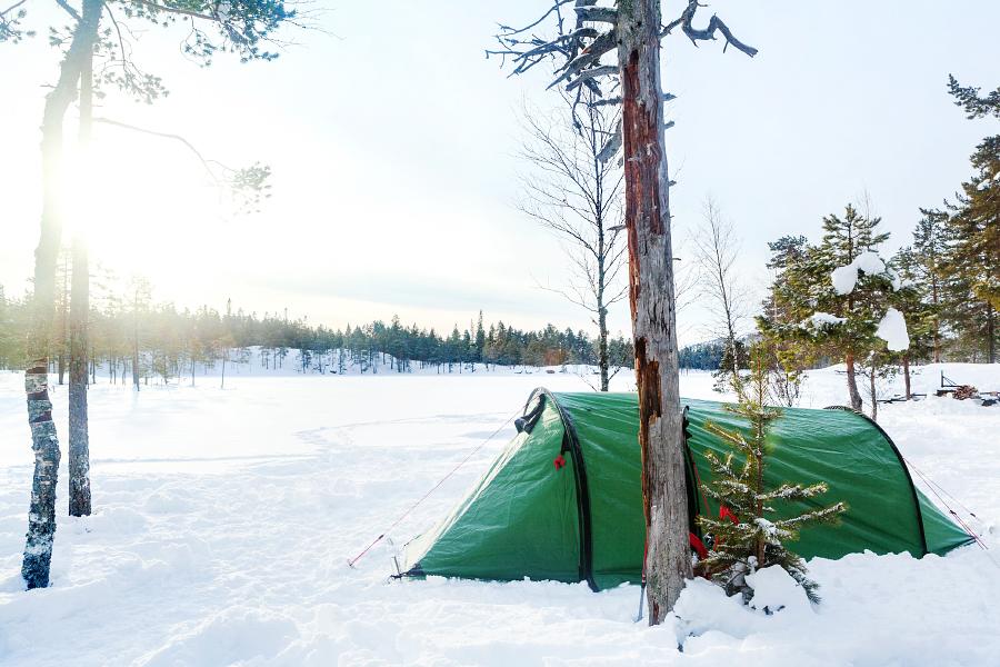 Tältplatsen vid Tärnättvattnen